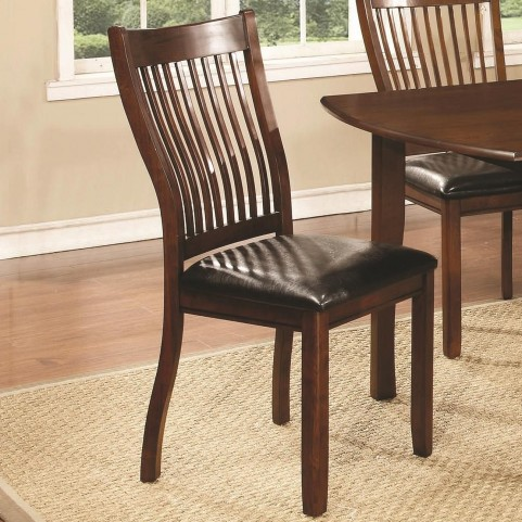 Sierra Cherry Brown Upholstered Side Chair Set of 2