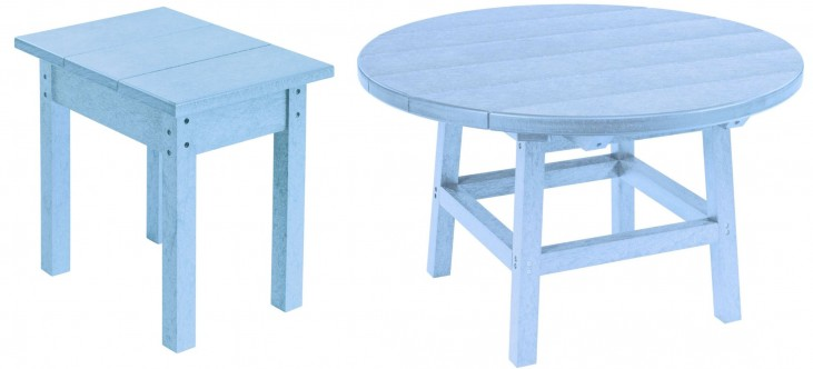 """Generations Sky Blue 32"""" Round Occasional Table Set"""