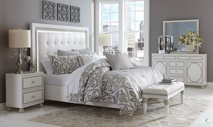Sky Tower White Cloud Cal. King Panel Bed