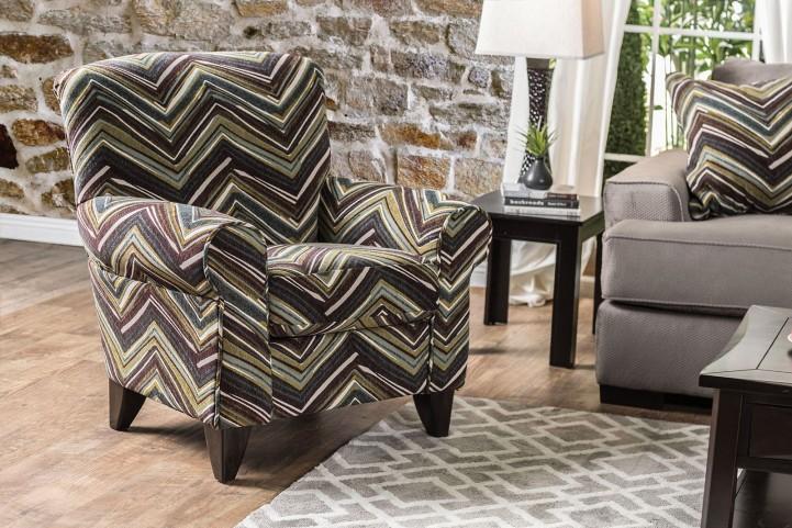 Cashel Chevron Pattern Chair