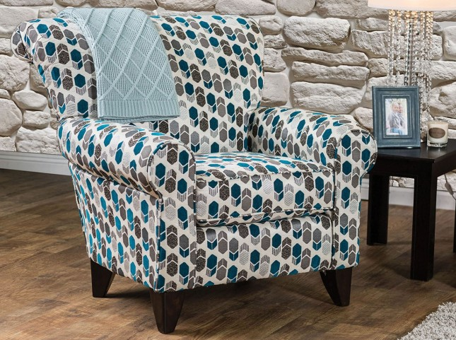 Arklow Geometric Pattern Chair