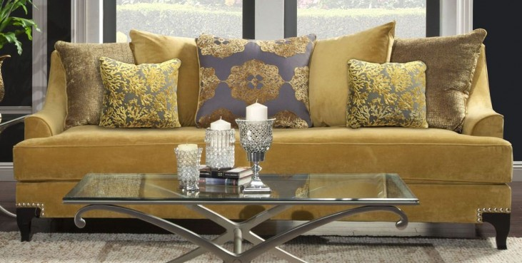 Viscontti Gold Sofa