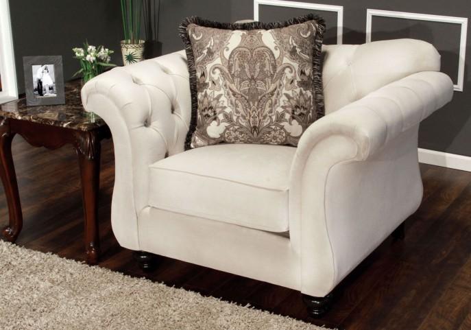 Antoinette Beige Premium Fabric Chair