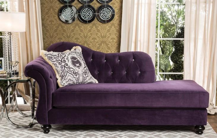 Antoinette Purple Chaise