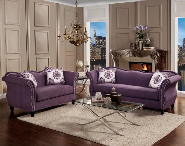 Zaffiro Lavender Living Room Set