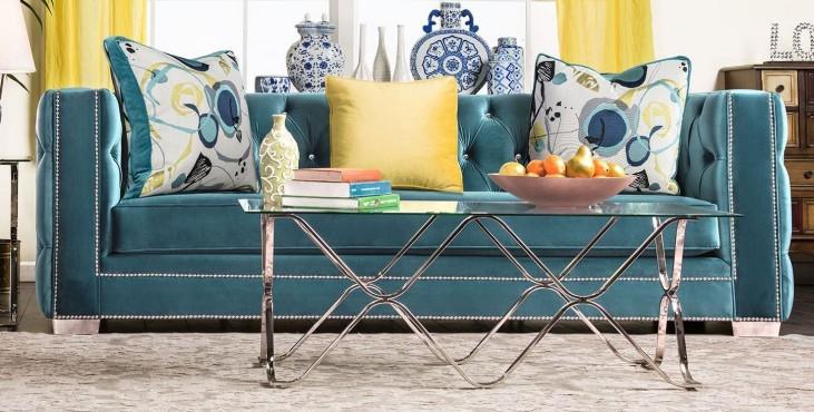 Salvatore Turquoise Sofa