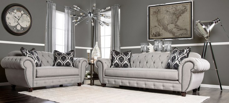 Viviana Gray Living Room Set