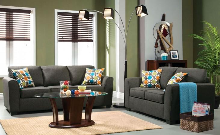Playa Gray Fabric Living Room Set
