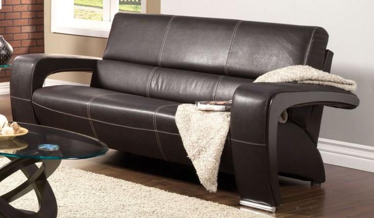 Enez Espresso Leatherette Sofa