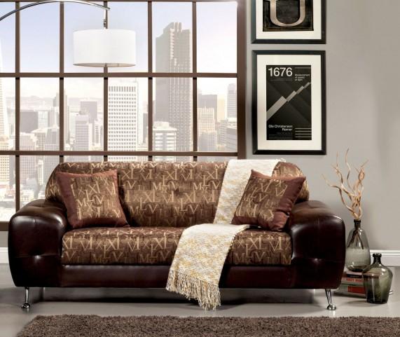 Avdira Gold Typographic Fabric Sofa