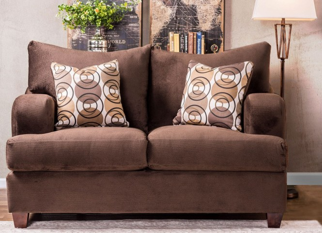 Wessington Chocolate Loveseat