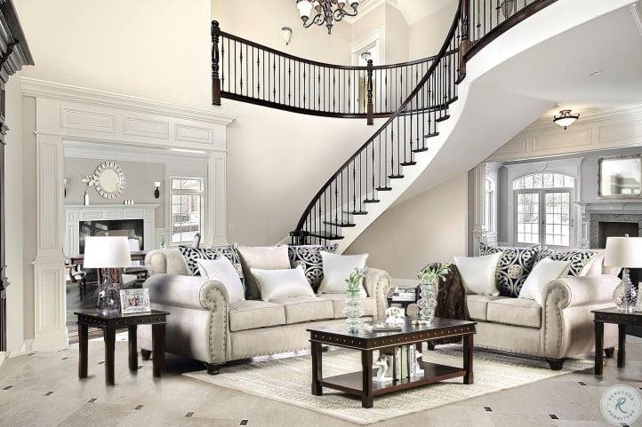 Sinatra Cream Living Room Set