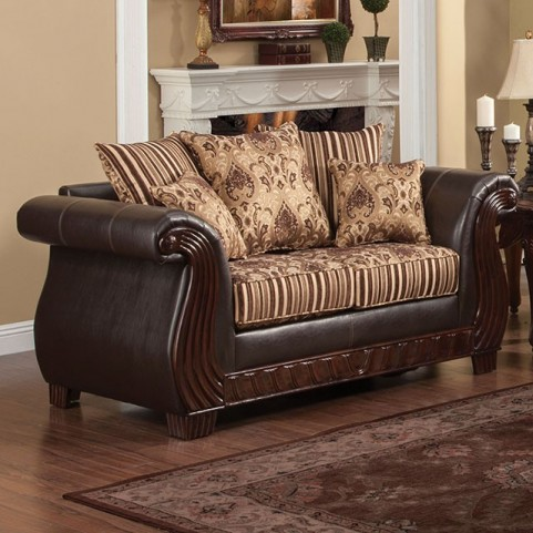 Rutherford Brown Loveseat