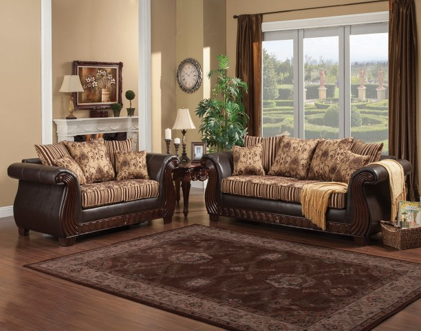 Rutherford Brown Living Room Set