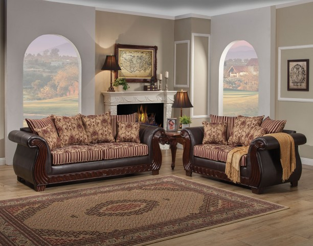 Rutherford Wine Living Room Set