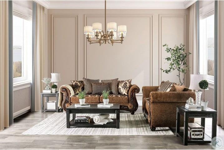 tilde brown and dark walnut living room set from furniture