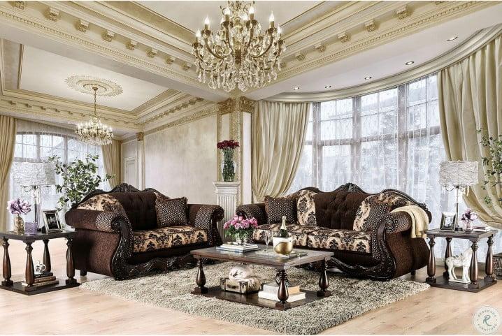 Ronja Dark Brown Living Room Set