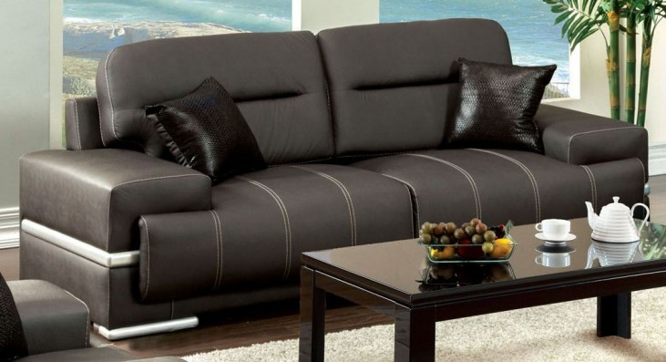 Thessaly Black Sofa