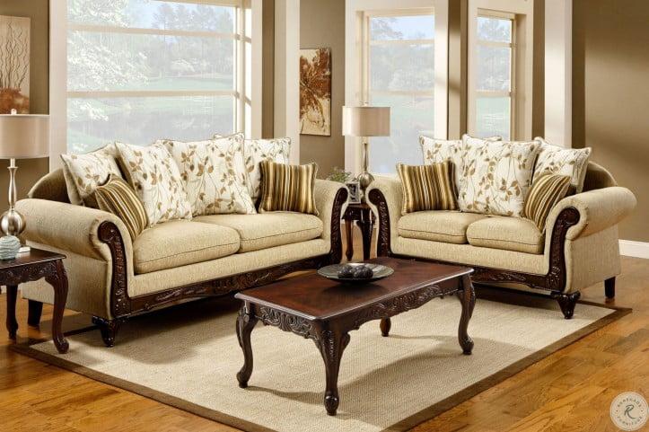 Doncaster Tan Fabric Living Room Set