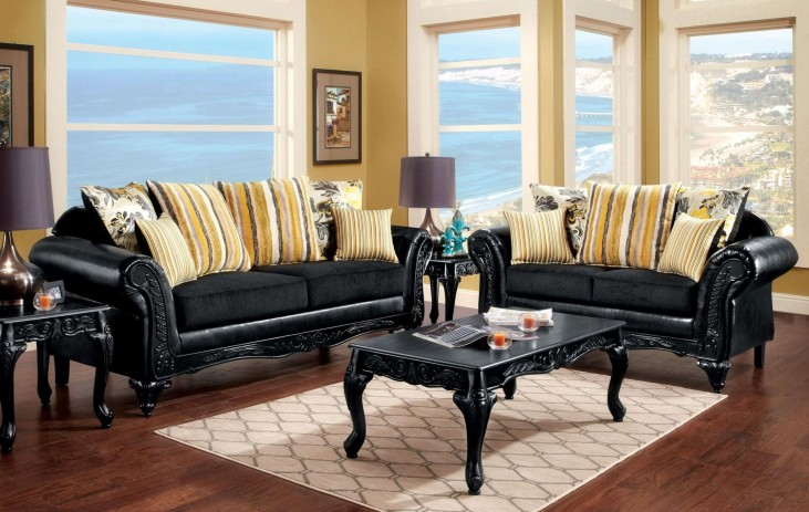 Thelon Black Living Room Set