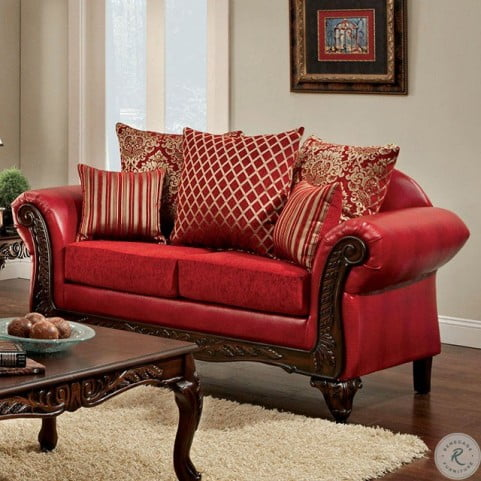 Fantastic Marcus Red Living Room Set Short Links Chair Design For Home Short Linksinfo