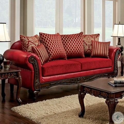 Pleasant Marcus Red Living Room Set Short Links Chair Design For Home Short Linksinfo