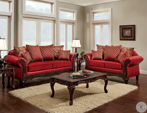 Strange Marcus Red Living Room Set Short Links Chair Design For Home Short Linksinfo