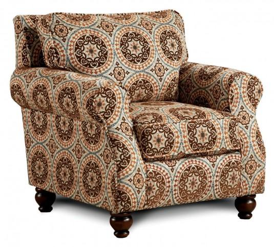 Adderley Tribal Pattern Accent Chair