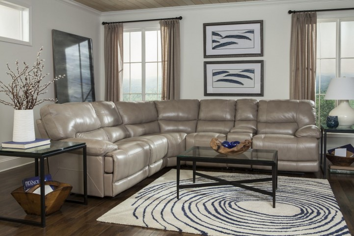 Socrates Latte Reclining Sectional