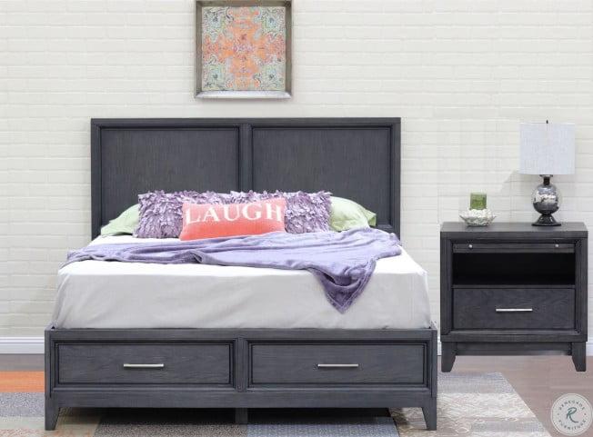 Chelsea Gray Wash Storage Bedroom Set