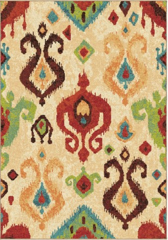 Spoleto Bright Color Southwest Aztec Jubilee Multi Medium Area Rug