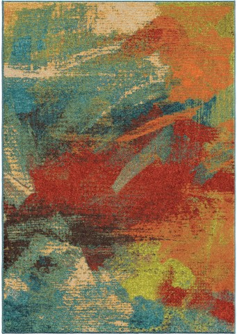 Spoleto Bright Color Abstract Impressions Multi Large Area Rug