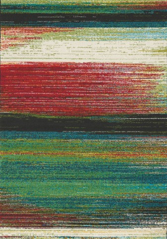 Spring Multi Watercolor Stripes Medium Rug