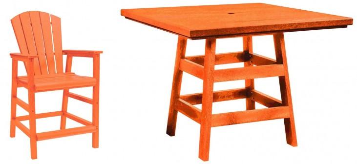 """Generation Orange 42"""" Square Pub Set"""
