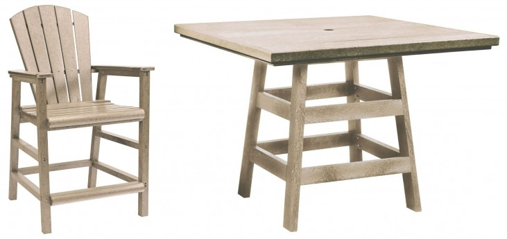 "Generation Beige 42"" Square Pub Set"