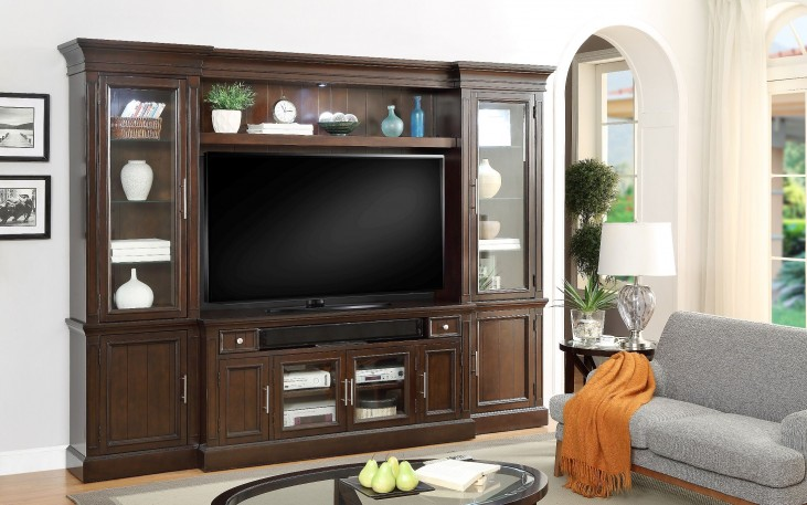 Stanford Light Vintage Sherry Entertainment Wall Unit