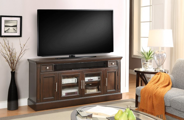 """Stanford Light Vintage Sherry 63"""" TV Console"""