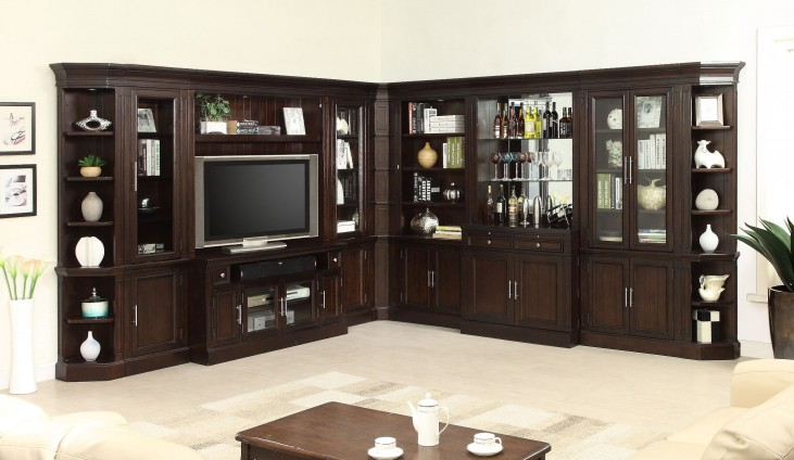 Stanford L Shape Entertainment Wall With Bar