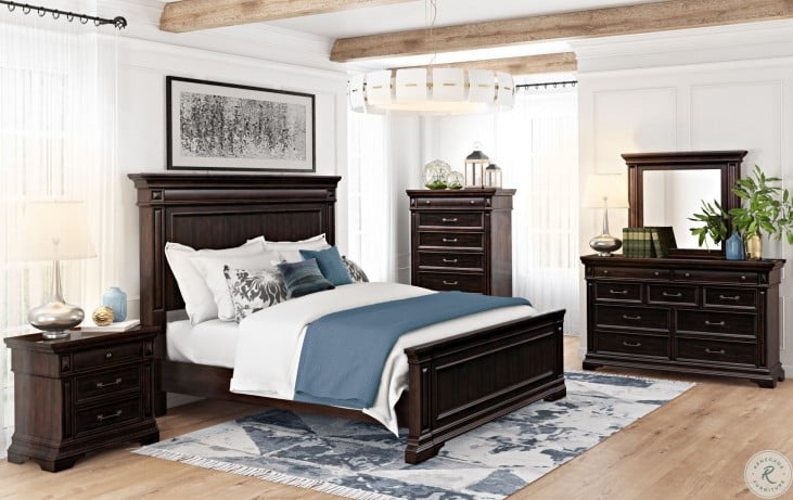 Stamford Brown Queen Panel Bed