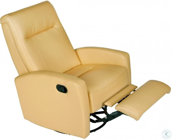 Brilliant Stefan Bedford Yellow Swivel Glider Recliner Customarchery Wood Chair Design Ideas Customarcherynet