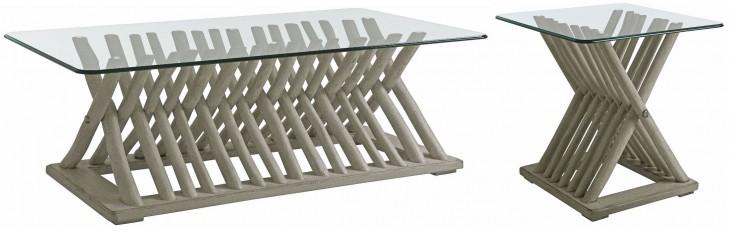 Coastal Living Resort Morning Fog Driftwood Flats Occasional Table Set