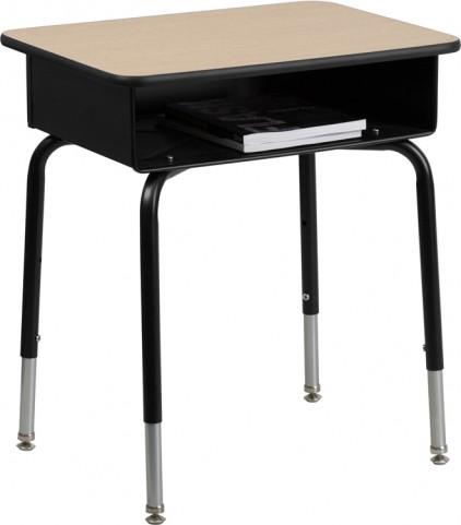 Open Front Metal Book Box Student Desk