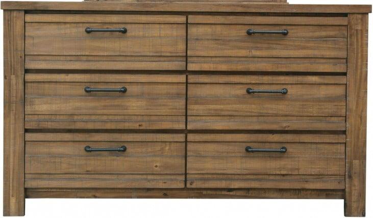 Soho Natural Wood Drawer Dresser