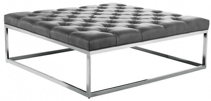 Sutton Square Ottoman Large In Grey Nobility