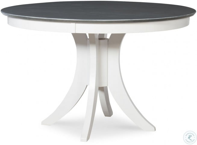 Cosmopolitan White And Gray Siena 48 Round Dining Table From John Thomas Coleman Furniture