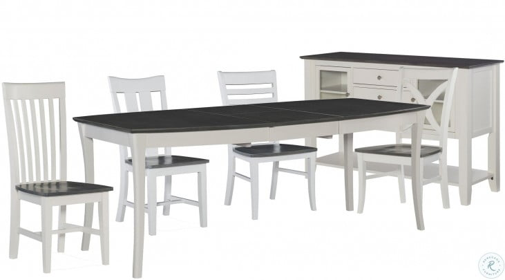 Cosmopolitan White And Gray Salerno Butterfly Extendable Dining Room Set From John Thomas Coleman Furniture