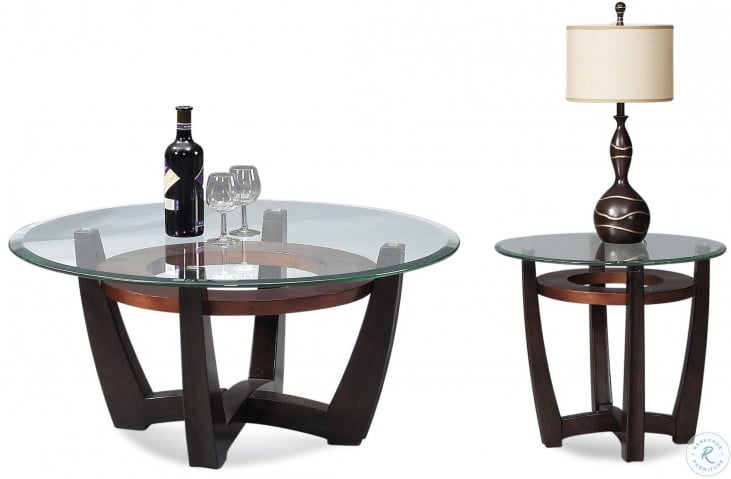 Excellent Metro Copper And Espresso Round Occasional Table Set Home Interior And Landscaping Ymoonbapapsignezvosmurscom
