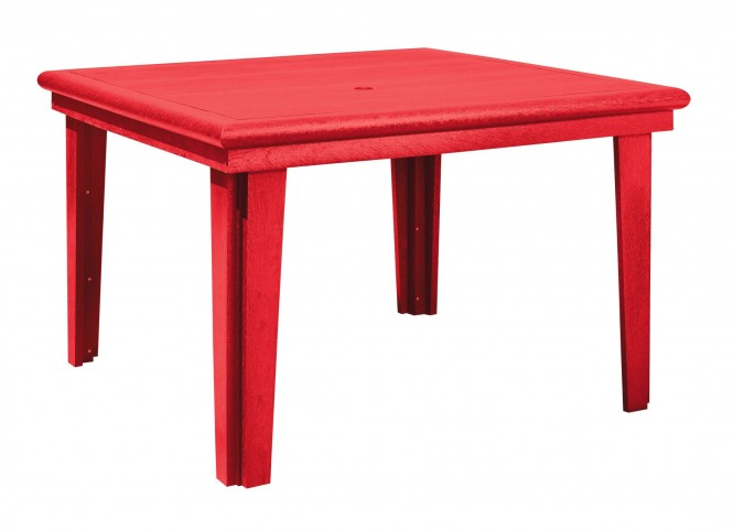 """Generations Red 46"""" Square Dining Table"""