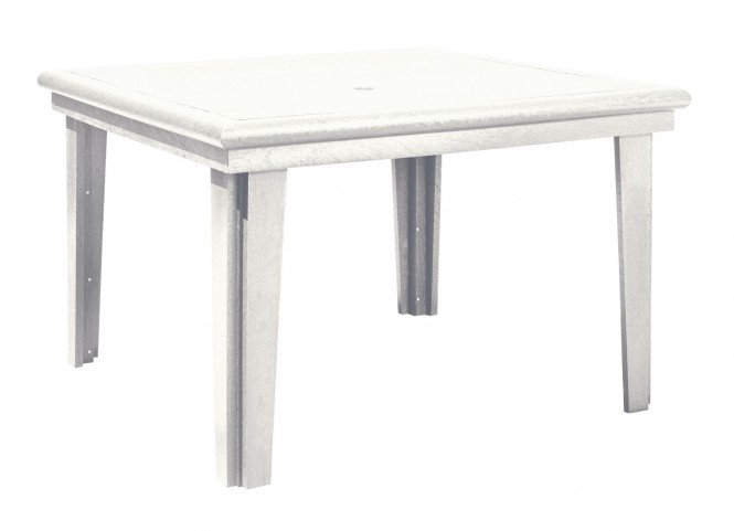 """Generations White 46"""" Square Dining Table"""