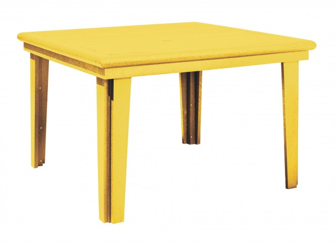 """Generations Yellow 46"""" Square Dining Table"""